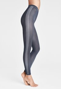 Wolford - ROBIN  - Leggings - Stockings - navy opal/ash - 0