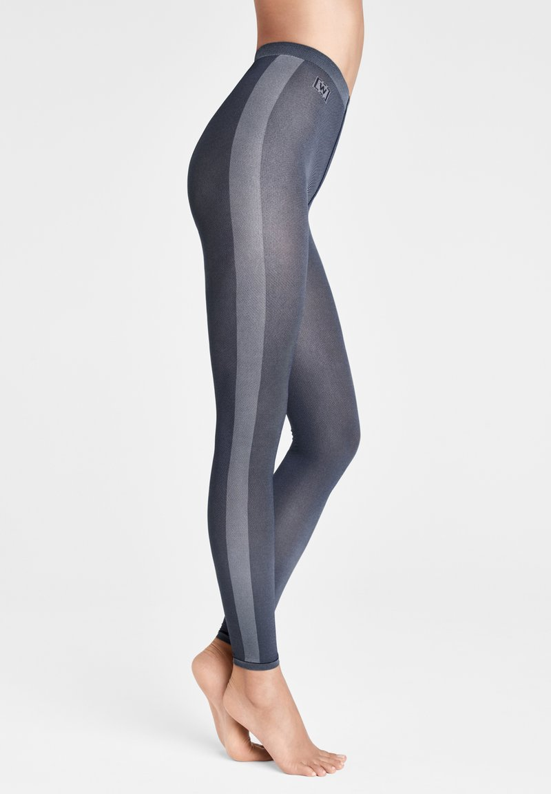 Wolford - ROBIN  - Leggings - Stockings - navy opal/ash