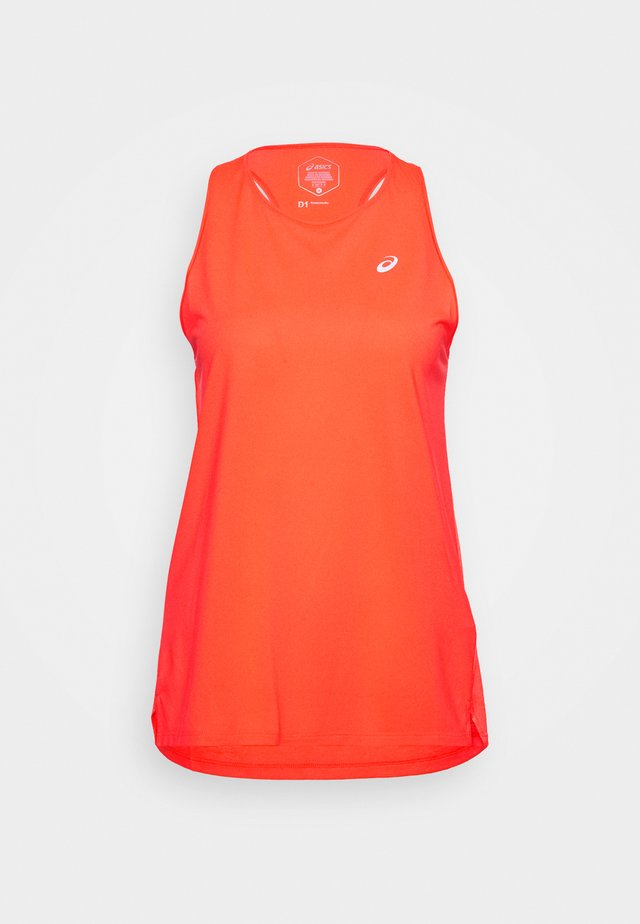 RACE SLEEVELESS - Sports shirt - flash coral