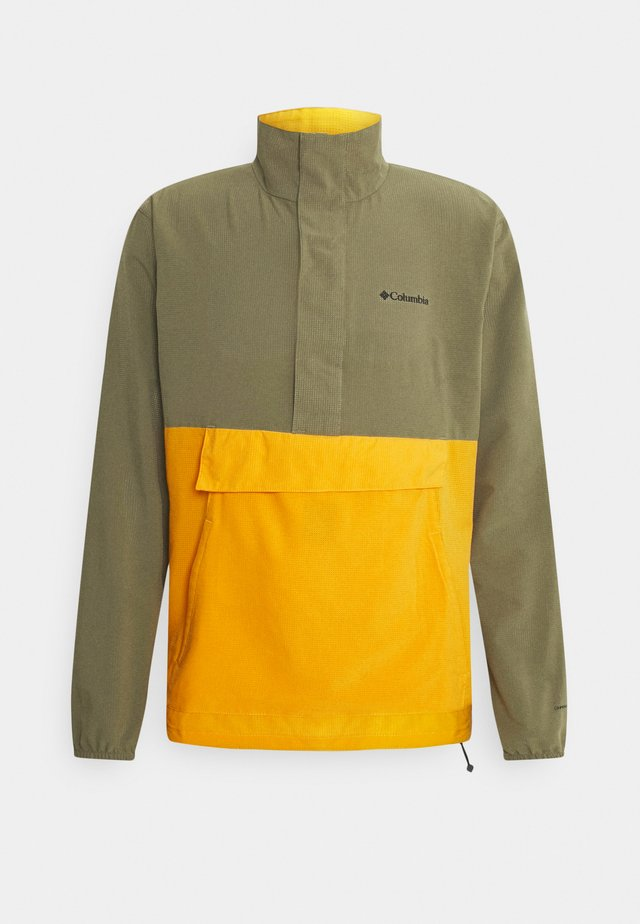 EXPLORER PACKABLE - Mikina na zip - stone green/bright gold