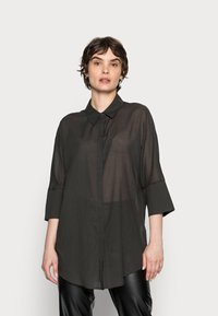 Opus - FRITZI - Button-down blouse - black oliv - 0