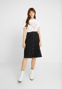 Tomorrow - HEPBURN SKIRT ORIGINAL - A-Linien-Rock - black - 1