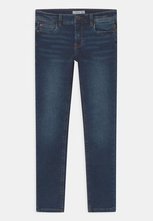 NKMTHEO  - Slim fit -farkut - dark blue denim
