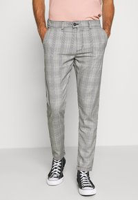 Shine Original - CHECKED CLUB TROUSERS - Pantalon classique - grey - 0
