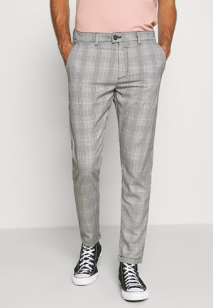 CHECKED CLUB TROUSERS - Pantaloni - grey