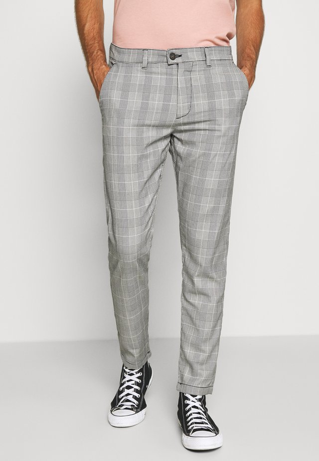 CHECKED CLUB TROUSERS - Kangashousut - grey