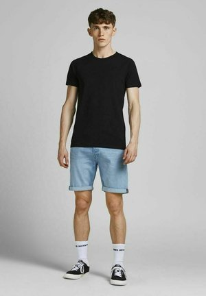 3 PACK RICK ORIGINAL AGI - Denim shorts - medium blue denim
