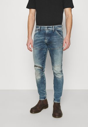 5620 3D ZIP KNEE SKINNY - Skinny-Farkut - light blue denim