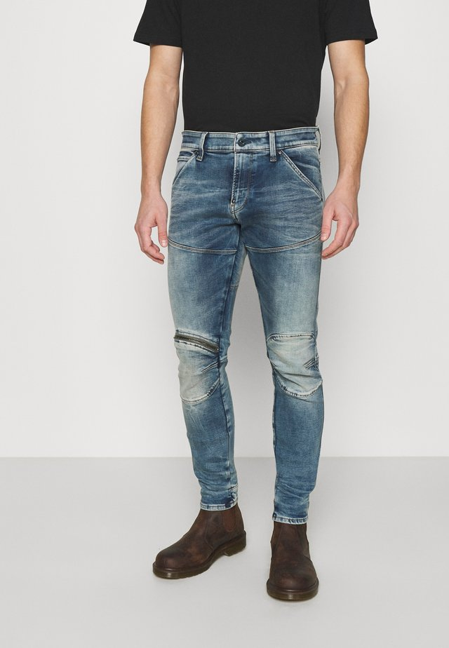3D ZIP KNEE SKINNY - Jeans Skinny Fit - light blue denim