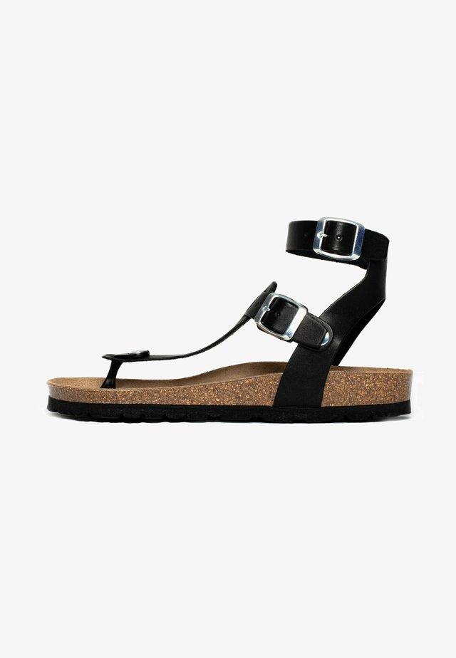 KWINANA - Sandaler m/ skaft - black