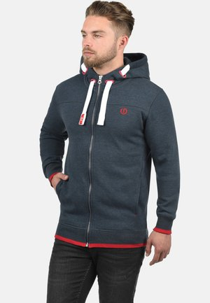 BENJAMIN - Zip-up hoodie - blue melange