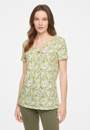 Print T-shirt - offwhite leaf