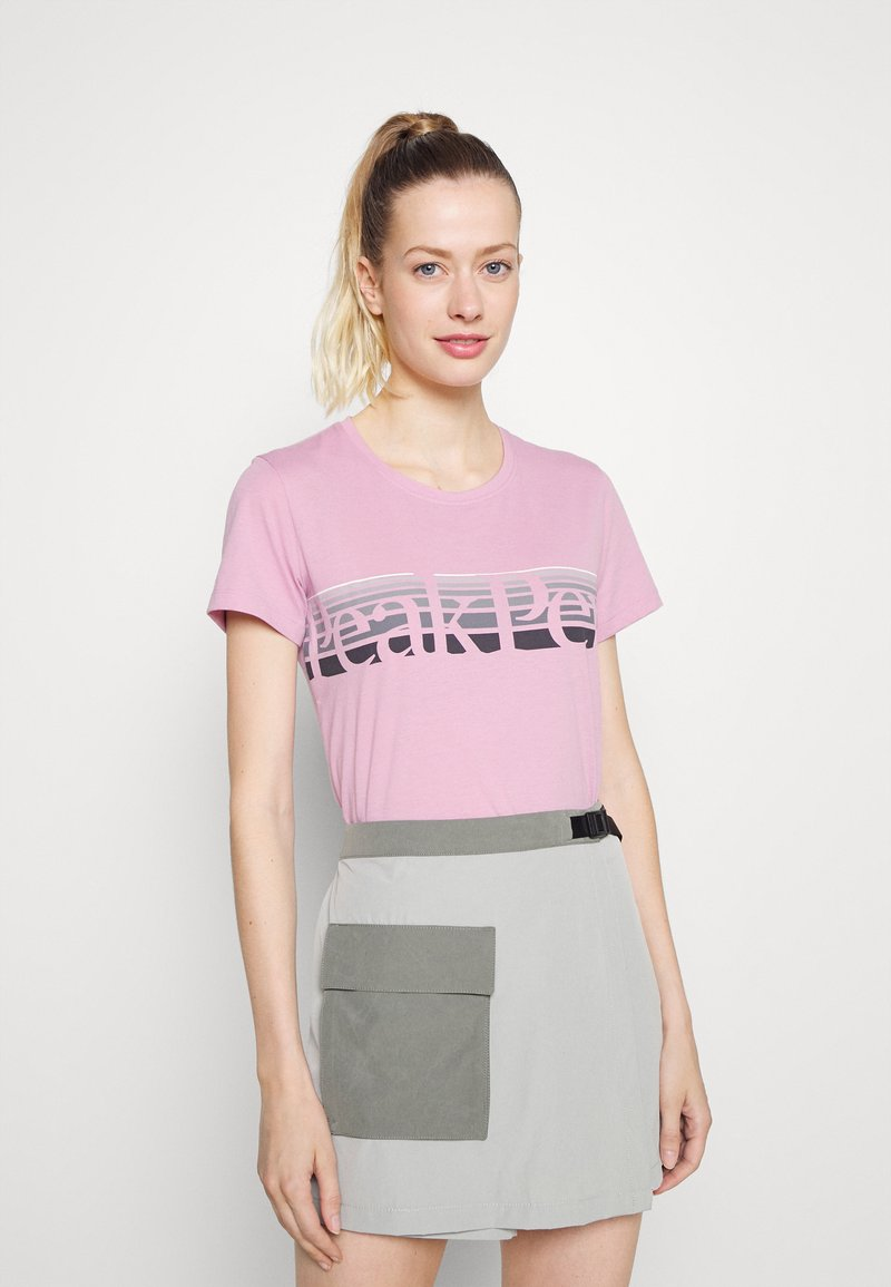 Peak Performance - EXPLORE TEE - T-shirt med print - statice lilac