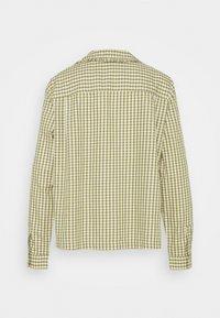 Marc O'Polo DENIM - BLOUSE FRILL DETAIL AT COLLAR - Button-down blouse - multi/fresh herb - 1