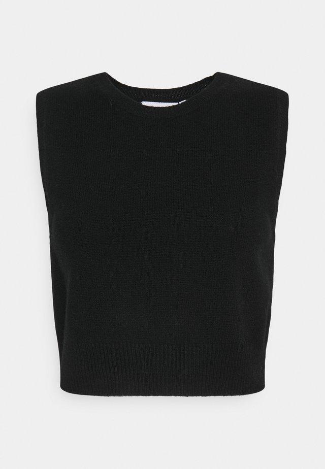 VEST - Neule - black
