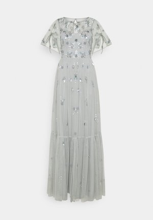 BEADED DRESS - Vestido de fiesta - frosted sage