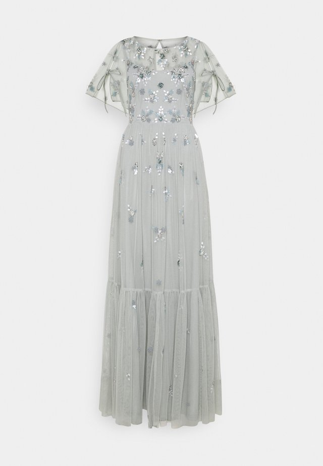 BEADED DRESS - Robe de cocktail - frosted sage