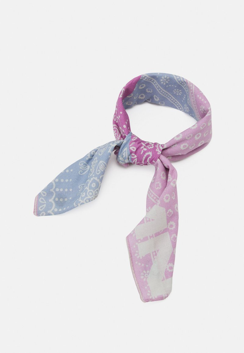 Mennace - HALF HALF PAISLEY PRINT BANDANA UNISEX - Foulard - dusty pink