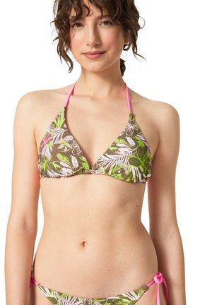 Bikinitop - khaki rosa hellgrün