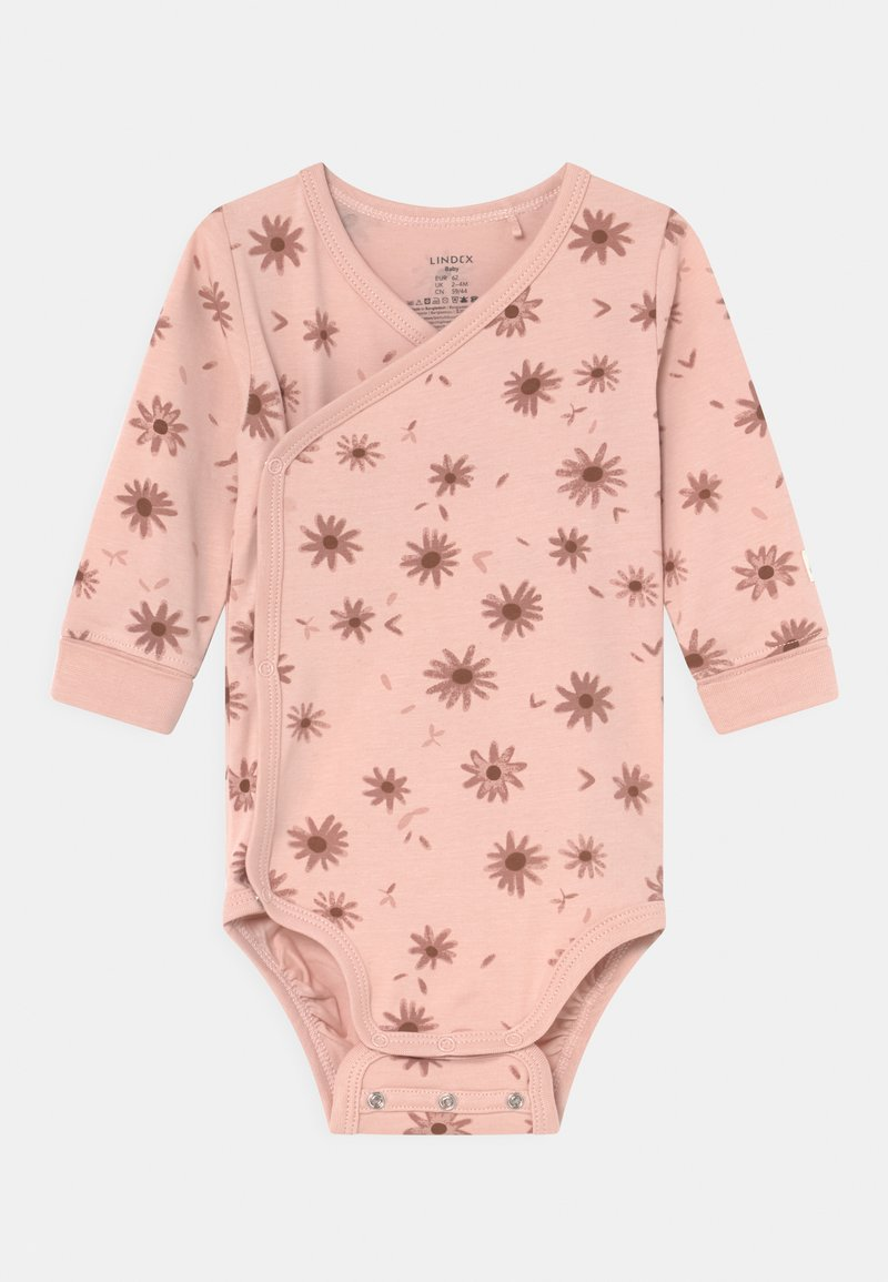 Lindex - WRAP FLOWERS - Body - light dusty pink