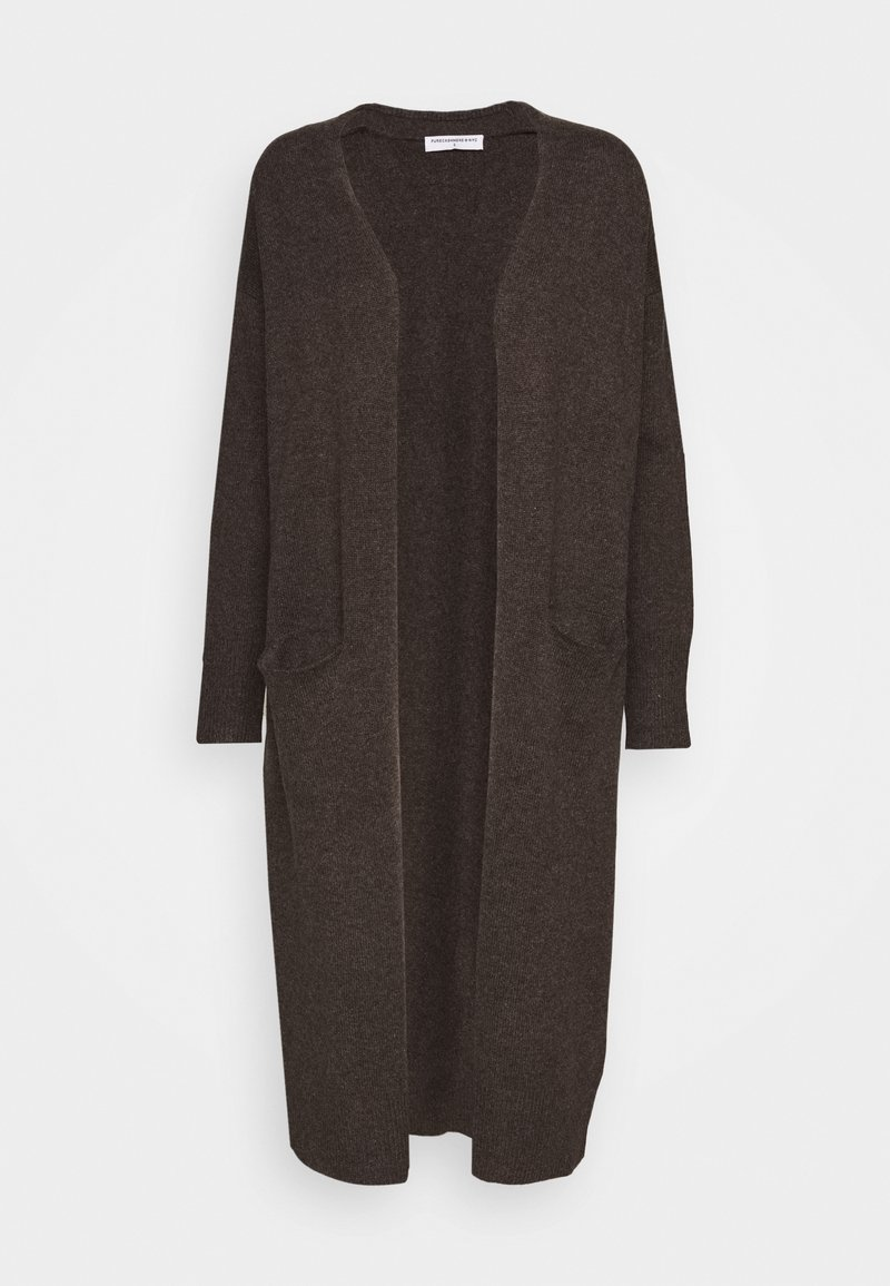 pure cashmere - LONG CARDIGAN - Cardigan - cocoa brown