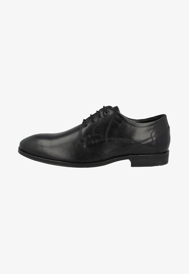Smart lace-ups - black