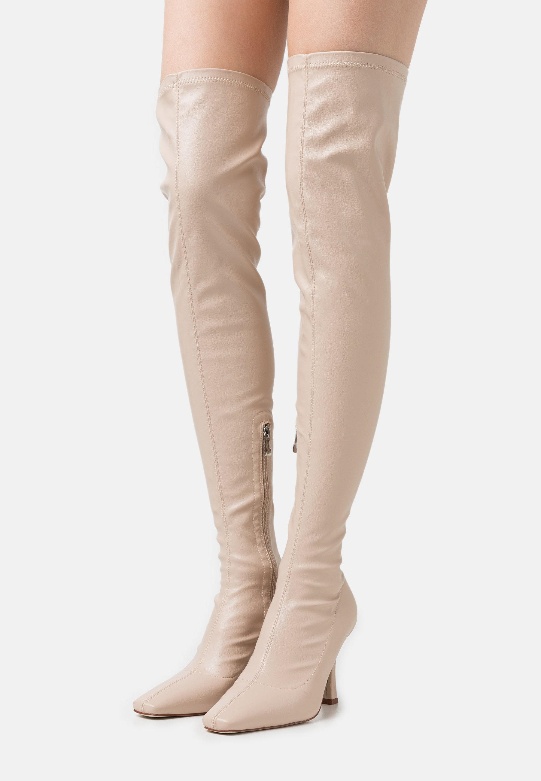 Women OPYUM - Over-the-knee boots - cream