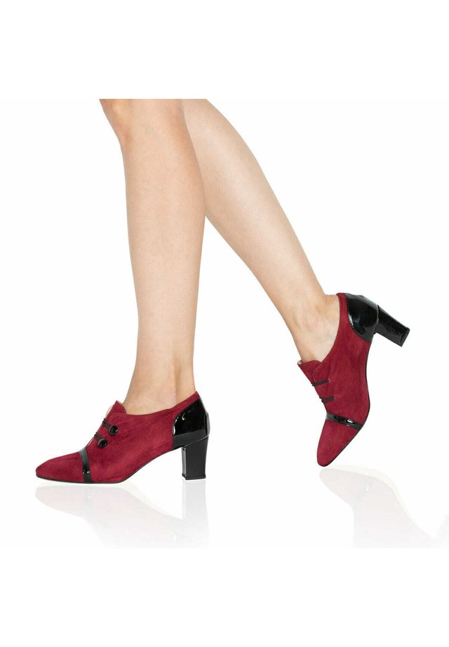 Plateaupumps - reddish/black