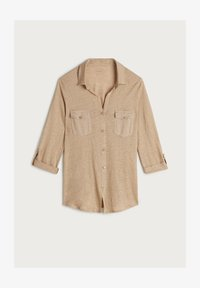 Intimissimi - LEINENSHIRT MIT 3/4-ARM MIT RIEGELN - Button-down blouse - hautfarben - 375i - natural beige - 3