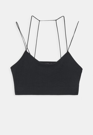 SEAMLESS SCOOP BACK - Topp - black