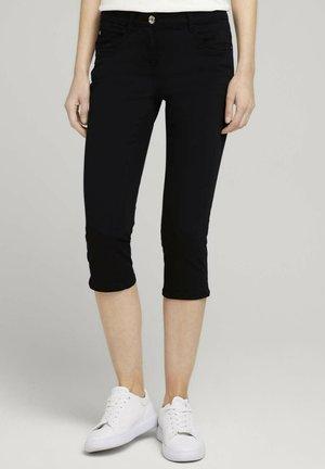 ALEXA SLIM CAPRI  - Denim shorts - deep black