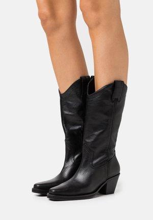 SLFLOUISE - Cowboy/Biker boots - black