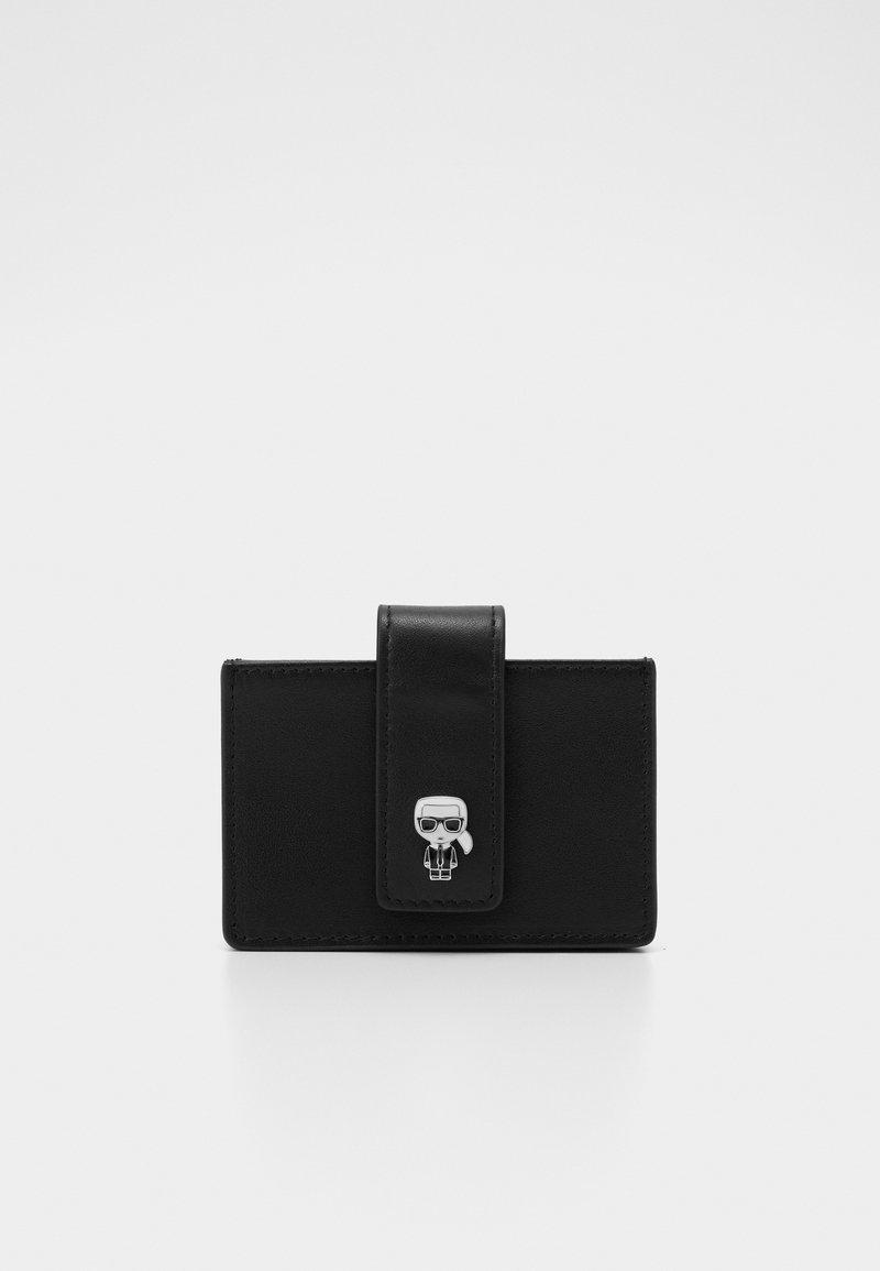 KARL LAGERFELD - IKONIK GUSS CARDHOLDER - Wallet - black