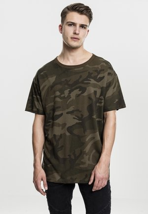 CAMO OVERSIZED - Print T-shirt - olive camo