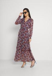 Vila - VIFALIA ANCLE DRESS - Maxi dress - winetasting blue - 1