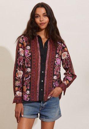 REBECCA - Button-down blouse - almost black