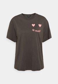 Monki - MAI TEE - Print T-shirt - grey dark - 4