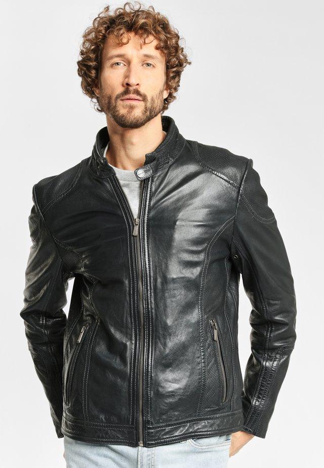CIEL LAAV - Leather jacket - black