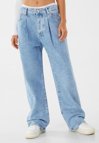 Bershka - Jeansy Straight Leg - blue denim - 0