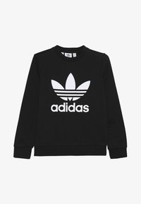 adidas Originals - TREFOIL CREW - Sweater - black/white - 1