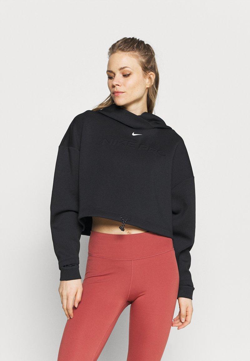 Nike Performance - HOODIE - Bluza z kapturem - black/metallic silver