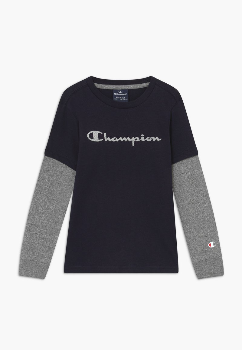 Champion - LEGACY AMERICAN CLASSICS LONG SLEEVE CREWNECK - Long sleeved top - dark blue