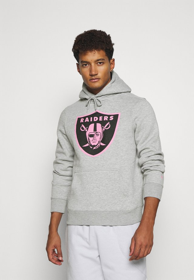 NFL OAKLAND RAIDERS ICONIC REFRESHER GRAPHIC HOODIE - Article de supporter - sports grey