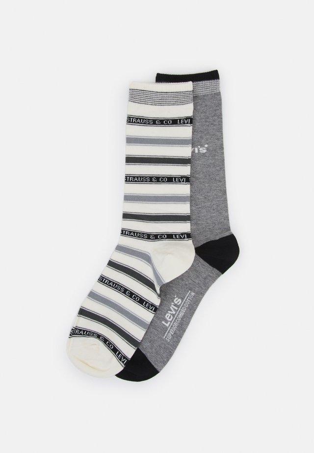 LABEL STRIPE REGULAR CUT 2 PACK - Socks - middle grey melange/anthracite