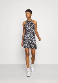 Vila - VIBE SINGLET SKIRT SET - A-line skirt - black brice combo - 0