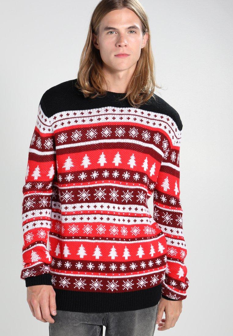 Urban Classics - CHRISTMAS CREWNECK - Trui - red/white/black