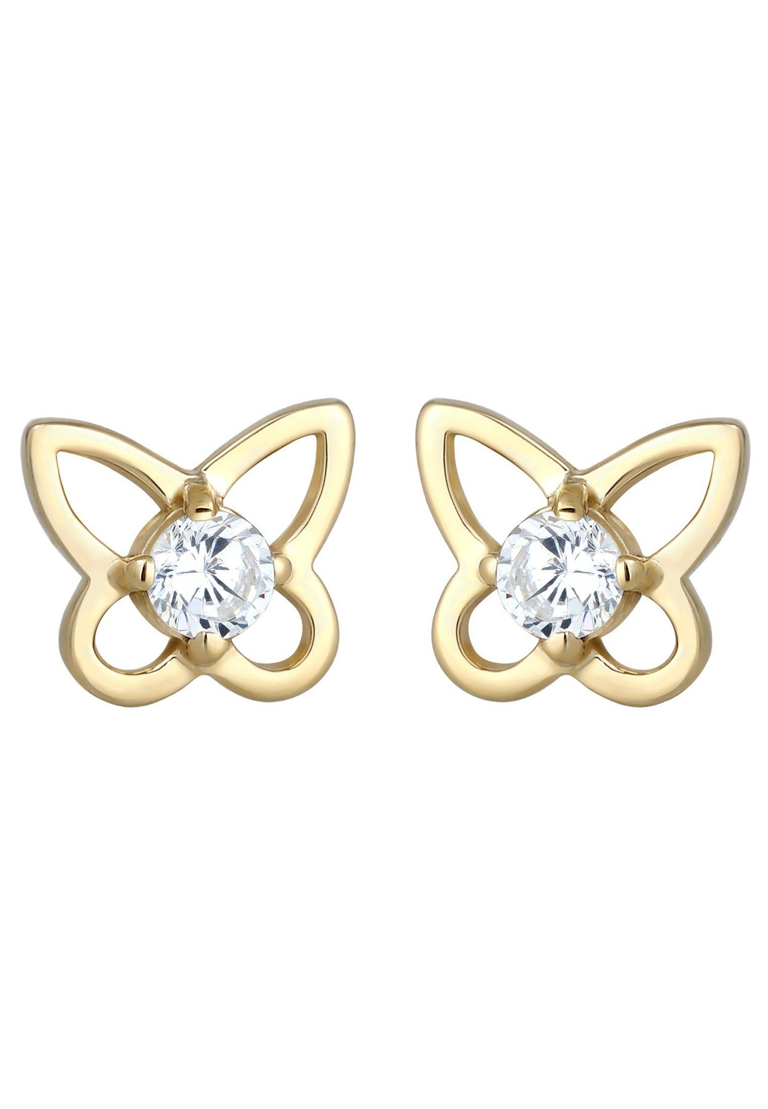 Elli Schmetterling - Ohrringe Gold-coloured/gold