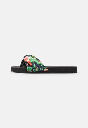 POOLY TROPICS - T-bar sandals - black
