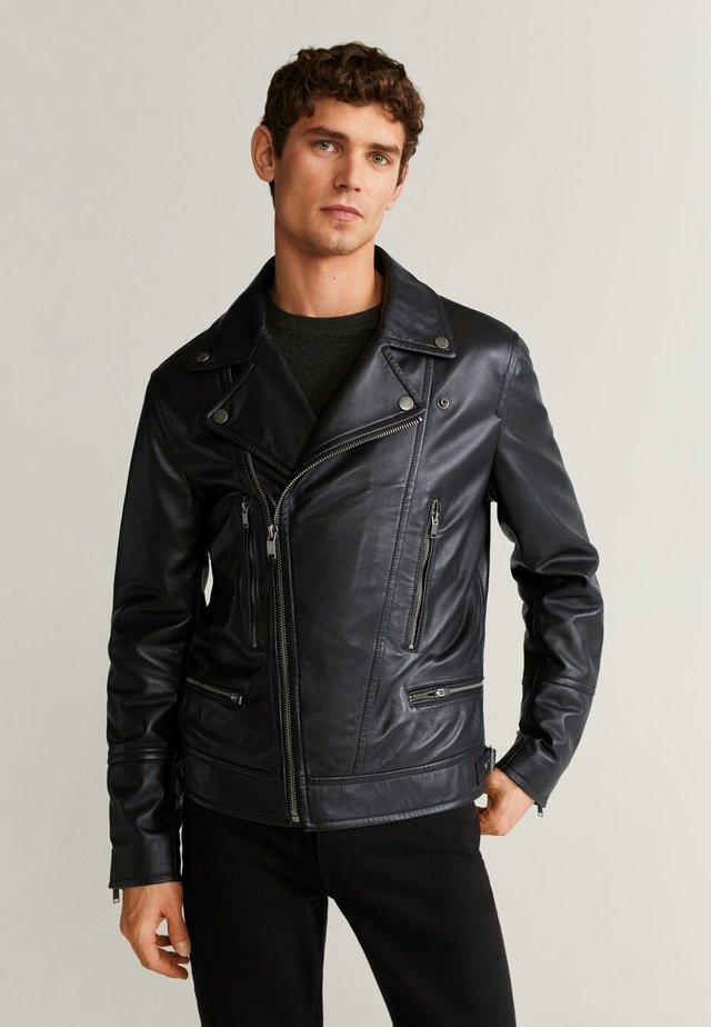 PERFECT - Leather jacket - black