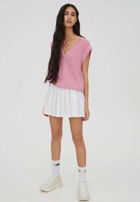 PULL&BEAR - Spódnica trapezowa - white - 1